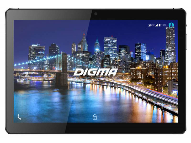 Планшет Digma CITI 1508 4G CS1114ML MT8735w (1.3) / 3Gb / 64Gb / 10.1 IPS WUXGA / Wi-Fi / BT / 3G / LTE / 2+5mpx / Android 7.0 / Black