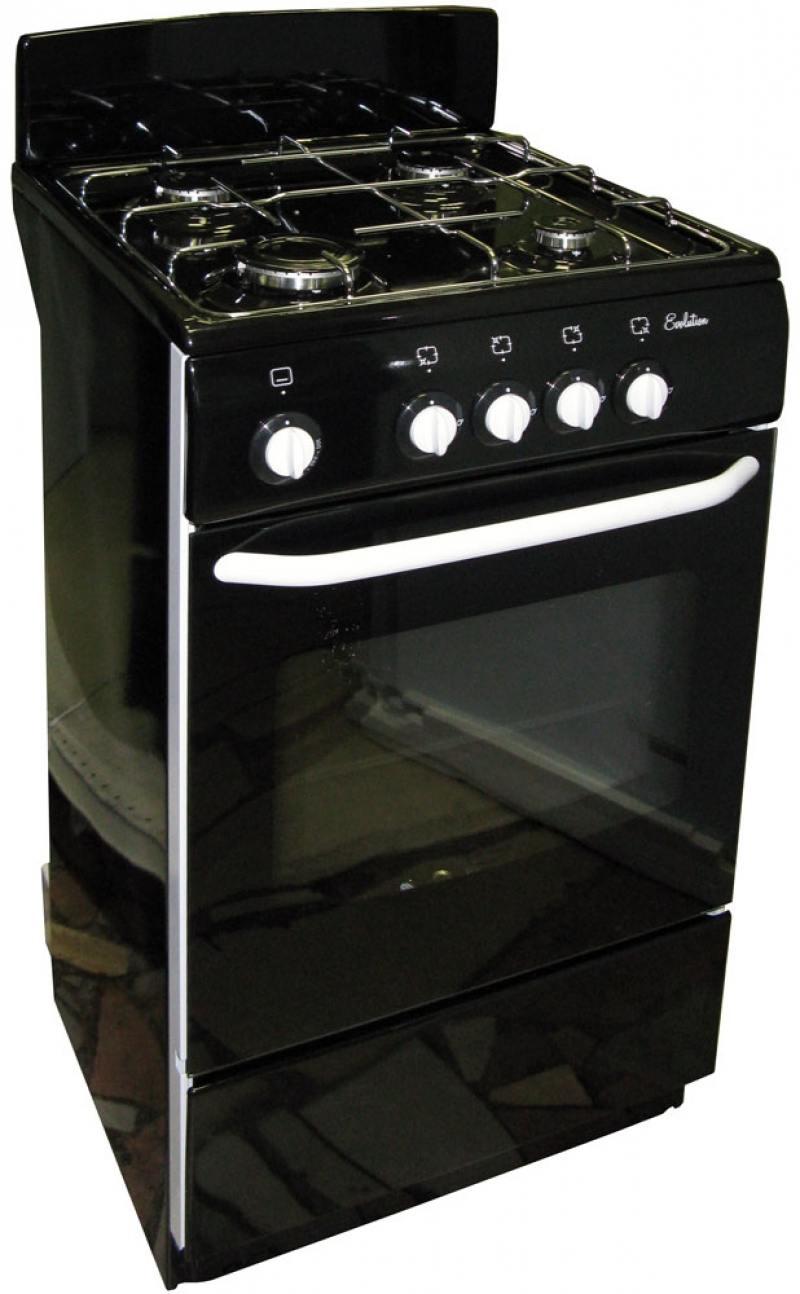 Газовая плита DE LUXE 5040.38г черный газовая плита de luxe 5040 33г белый 5040 33г