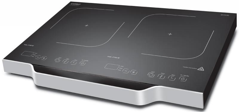 Индукционная электроплитка CASO W 3500 серебристый чёрный