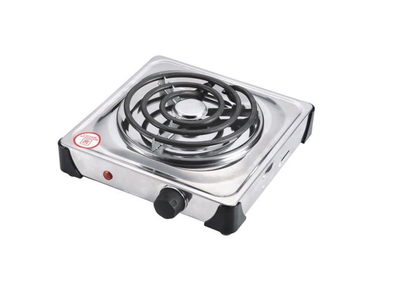 Электроплитка Zimber ZM-10069 1000Вт серебристый