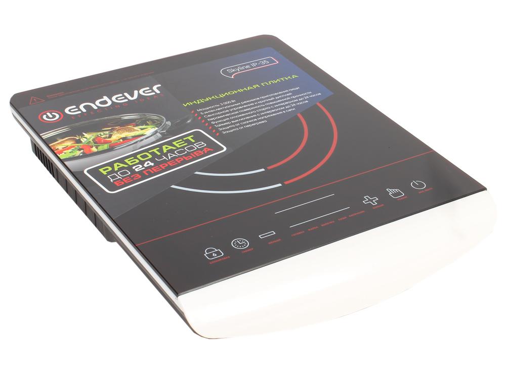 Плитка электрическая индукционного типа Endever Skyline IP-35, черный, мощность 2000 Вт, дно посуды от 12-32 см, 5 автоматических программ