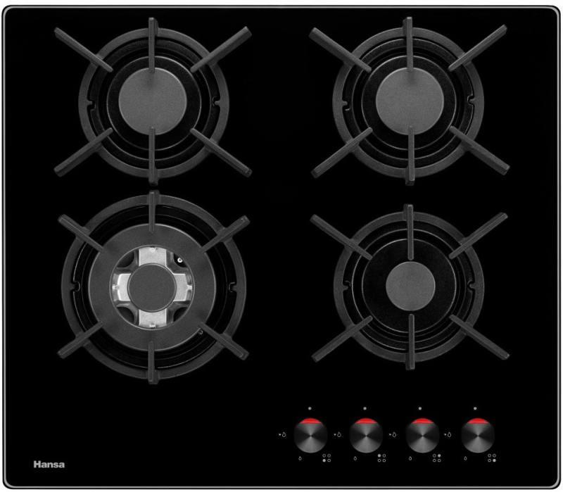 Варочная панель газовая Hansa BHKS61138 варочная поверхность hansa bhks61138 независимая черный