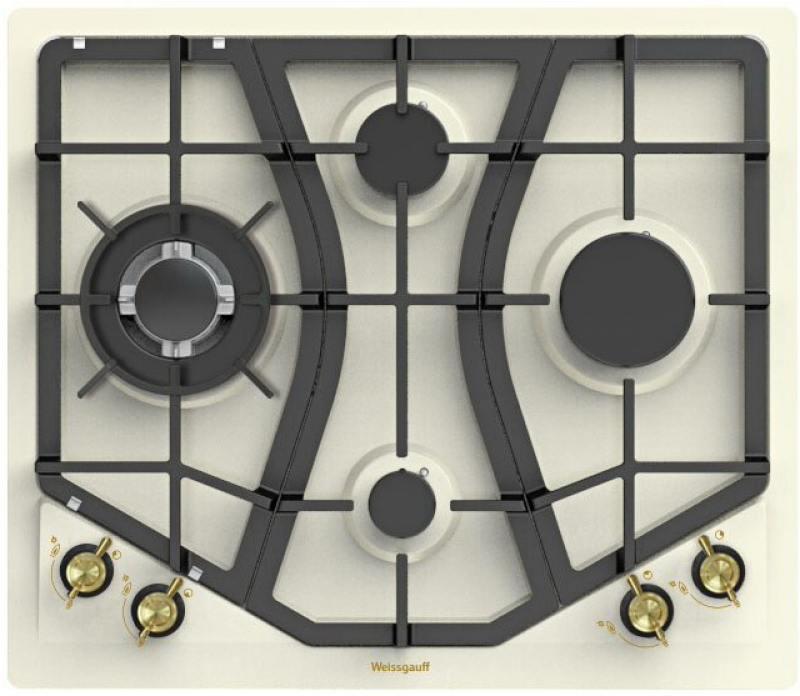 Варочная панель газовая Weissgauff HGRG 641 OWR weissgauff tel 06 bl
