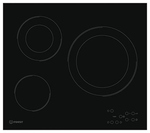 Варочная панель электрическая Indesit RI 360 C варочная панель электрическая indesit via 640 0 c черный