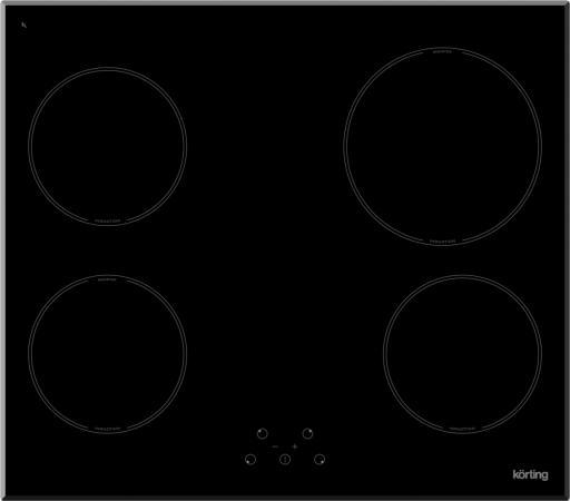 Варочная панель индукционная Korting HI 64021 B встраиваемая индукционная электрическая варочная поверхность korting hi 64021 b