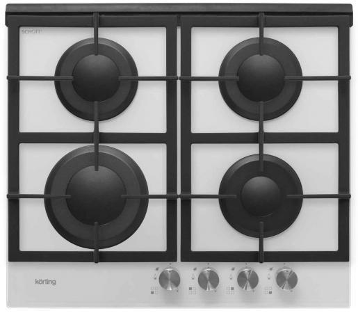 Варочная панель газовая Korting HGG 660 CW встраиваемая газовая варочная панель korting hgg 660 cw