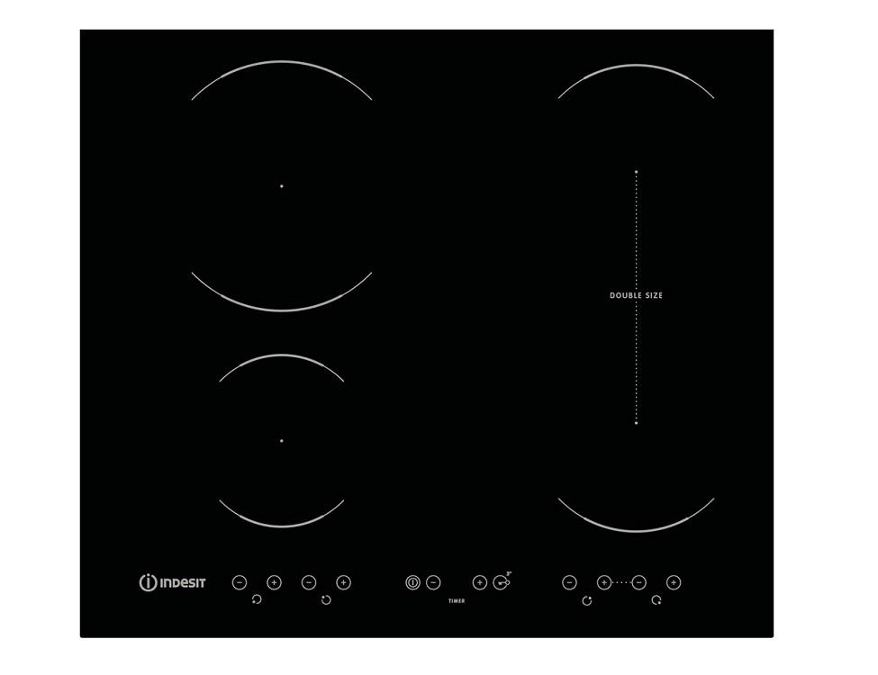 Варочная панель электрическая Indesit VID 641 B C варочная панель электрическая indesit via 630 s c