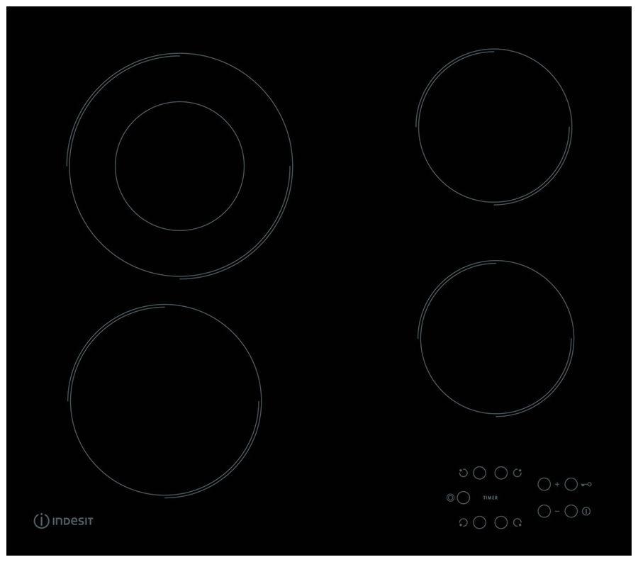 Варочная панель электрическая Indesit RI 260 C варочная панель индукционная indesit ivia 640 c