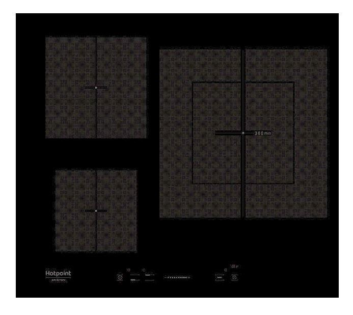 Варочная панель индукционная HOTPOINT-ARISTON KIS 630 XLD B варочная панель электрическая ariston kis 644 ddz черный