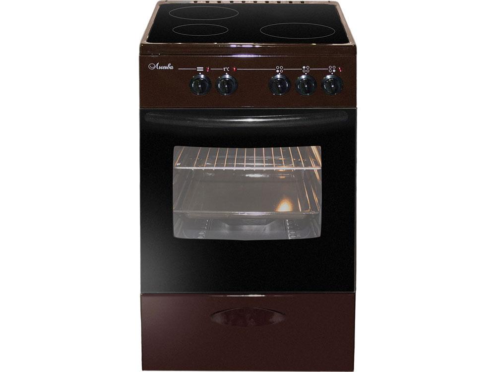 Электрическая плита Лысьва ЭПС 301 МС коричневый электрическая плита лысьва эп 301 мс белый