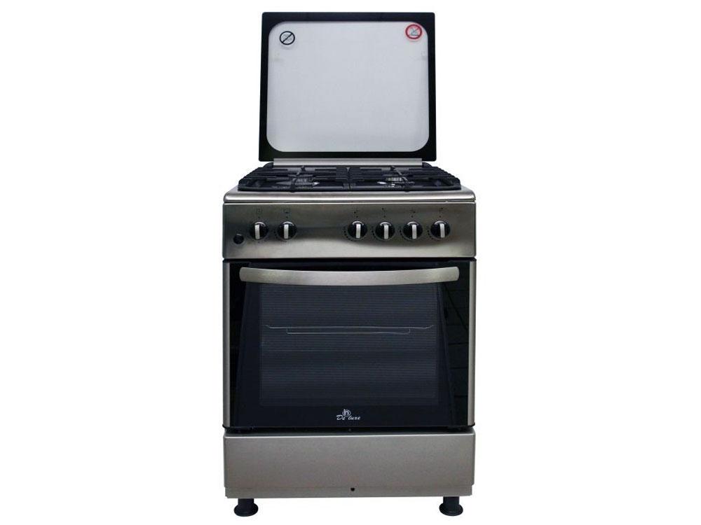 Газовая плита De Luxe 606040.24-000Г (КР) ЧР газовая плита de luxe 606040 24 001г кр чр газовая духовка белый