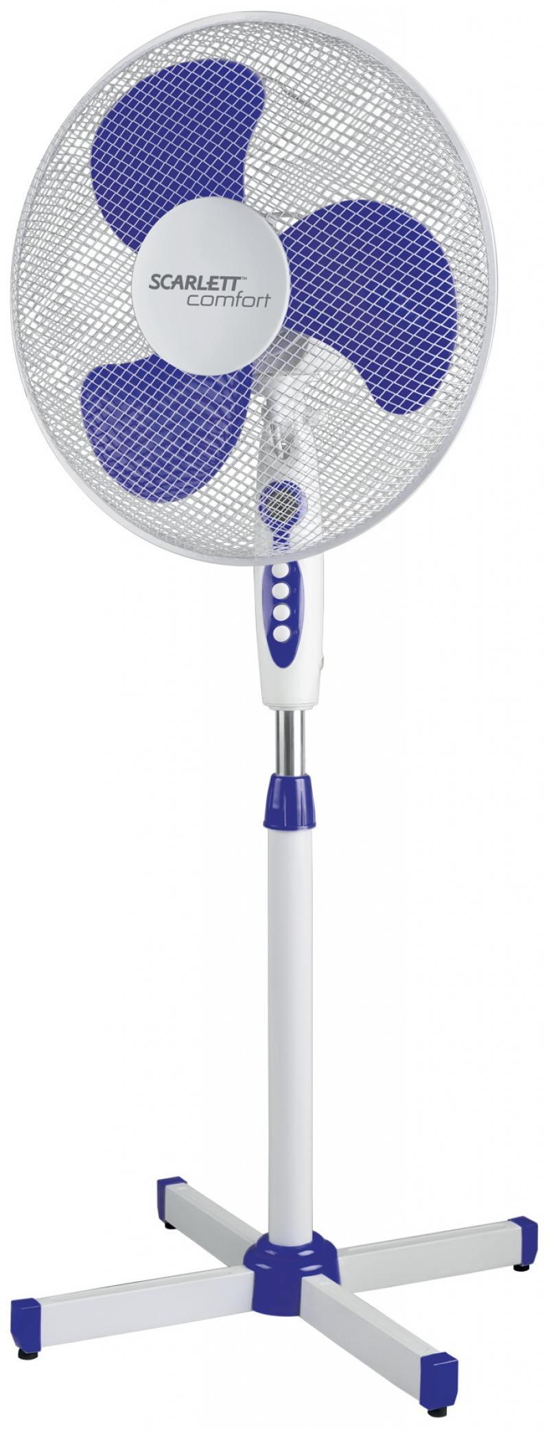 Вентилятор напольный Scarlett SC-SF111B11 38 Вт белый/голубой вентилятор напольный aeg vl 5569 s lb 80 вт