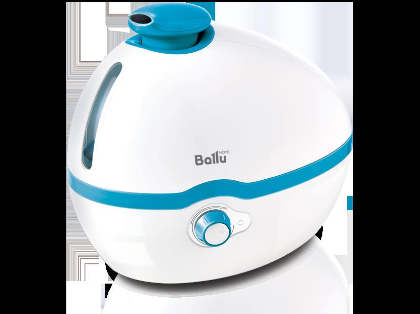 Увлажнитель воздуха BALLU UHB-100 белый/голубой 10 м2, 2 режима, расход воды 300 гр./час, объём 1 л