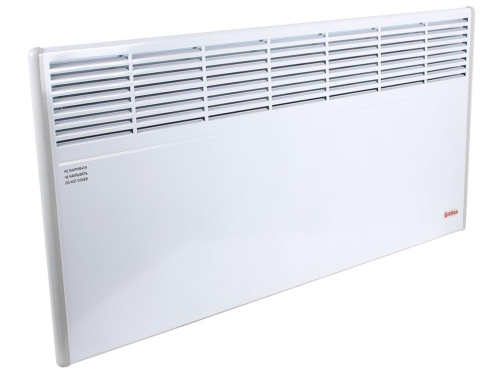 Конвектор RODA Standart 2.0 EBHA-2.0/230C2M 2000 Вт. Механическое управление, площадь 20м2, ВхШхГ 45х93х10 см, белый.