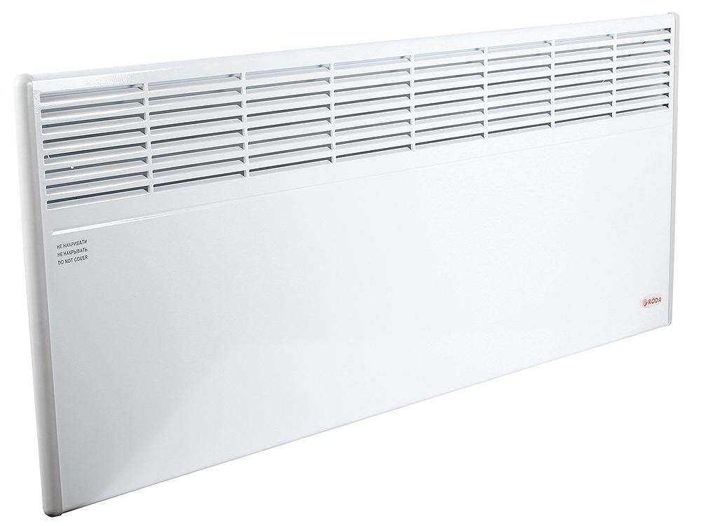 Конвектор RODA Standart 2.5 EBHA-2.5/230C2M 2500 Вт. Механическое управление, площадь 25м2, ВхШхГ 45х105х10 см, белый.