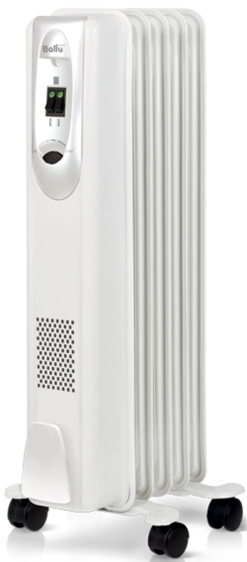 Масляный радиатор BALLU Comfort BOH/CM-05WDN 1000 Вт белый масляный радиатор ballu comfort boh cm 07wd