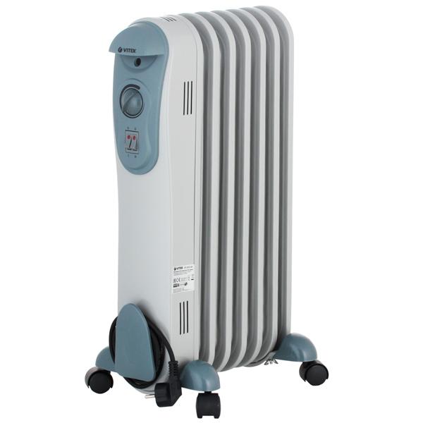 Масляный радиатор Vitek VT-2121(GY) 1500 Вт серый