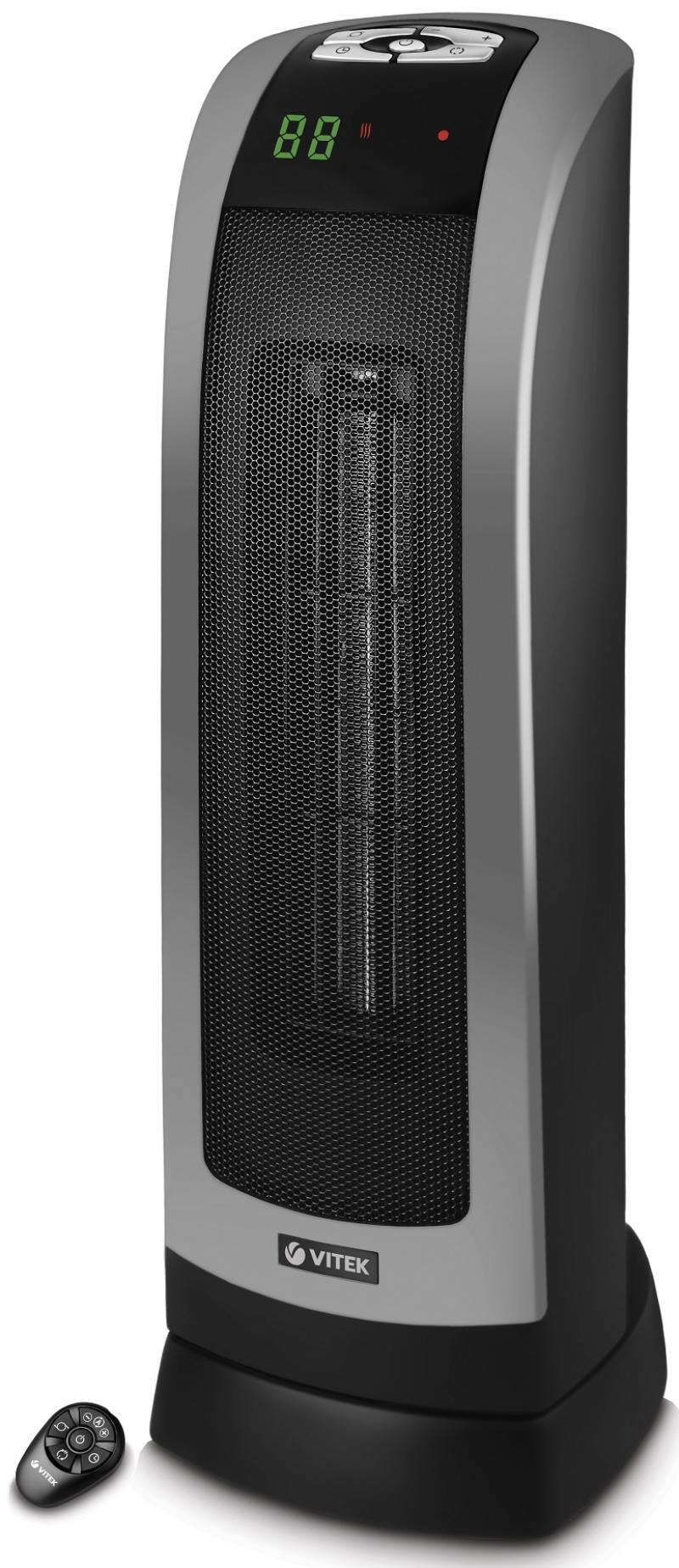 Тепловентилятор Vitek VT-2134 BK 2000 Вт чёрный выпрямитель волос vitek vt 8402 bk 35вт чёрный