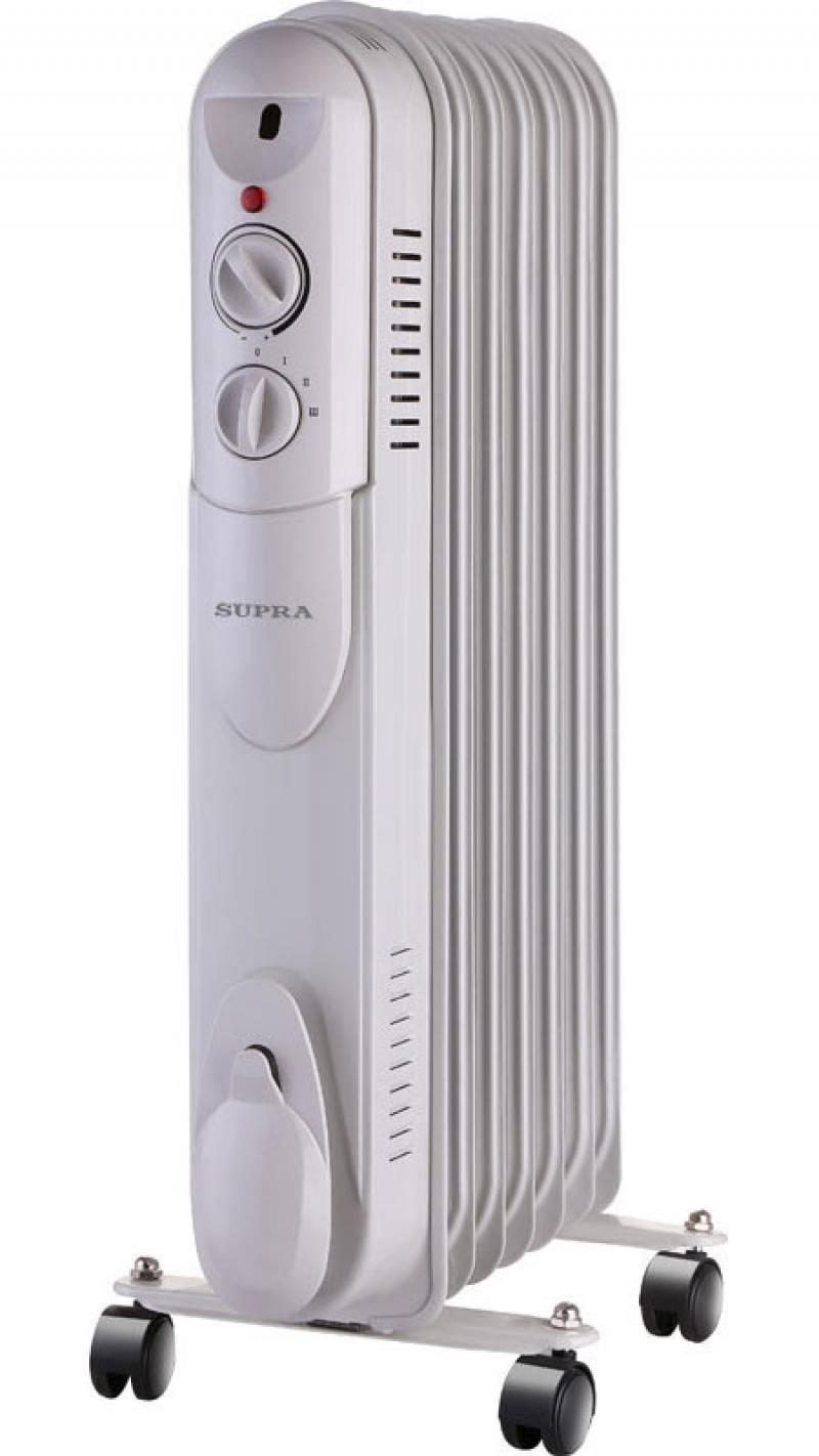 Масляный радиатор Supra ORS-07-S1 1500 Вт белый supra ors 11 sn black