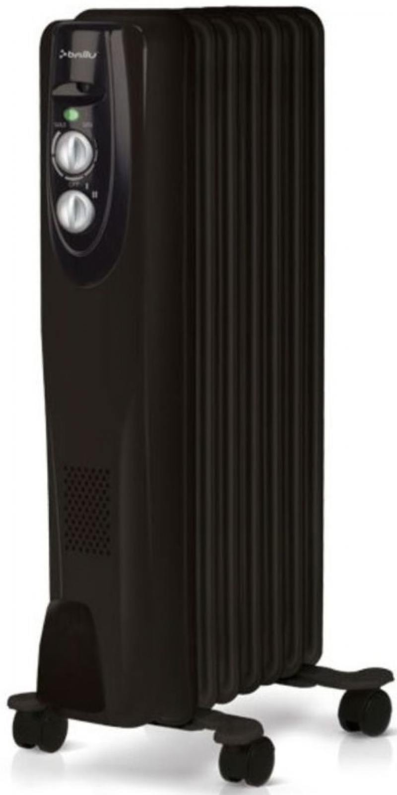 Масляный радиатор Ballu BOH/CL-07BRN 1500 Вт чёрный масляный радиатор ballu boh md 07bbn 1500 вт чёрный