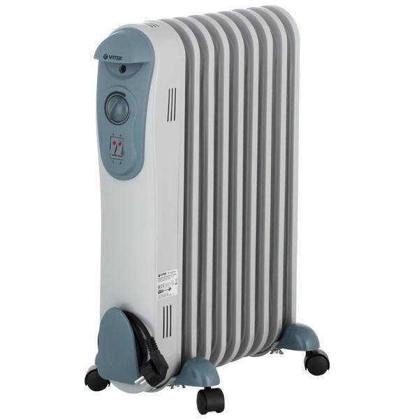 Масляный радиатор Vitek VT-2122(GY) 2000 Вт серый