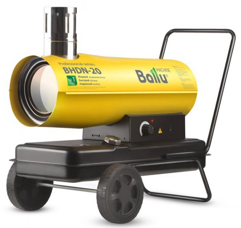 Тепловая пушка BALLU BHDN-20 20000 Вт желтый