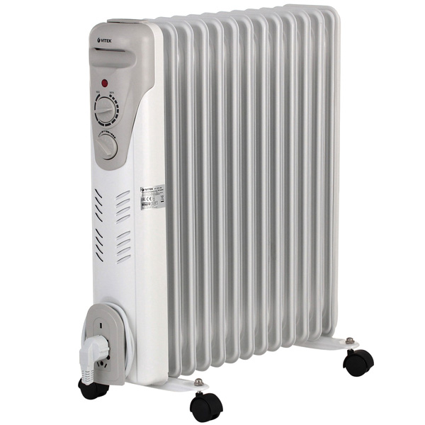 Масляный радиатор Vitek VT-1711(W) 2500 Вт белый