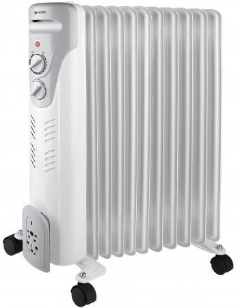 Масляный радиатор Vitek VT-1710(W) 2000 Вт белый
