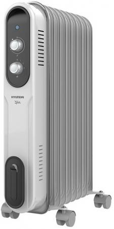 Масляный радиатор Hyundai H-HO-9-09-UI848 2000 Вт белый серый цена и фото