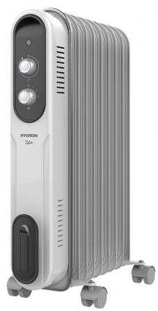 Масляный радиатор Hyundai H-HO-9-07-UI847 1500 Вт белый серый биокамин silver smith mini 3 premium 1500 вт серый