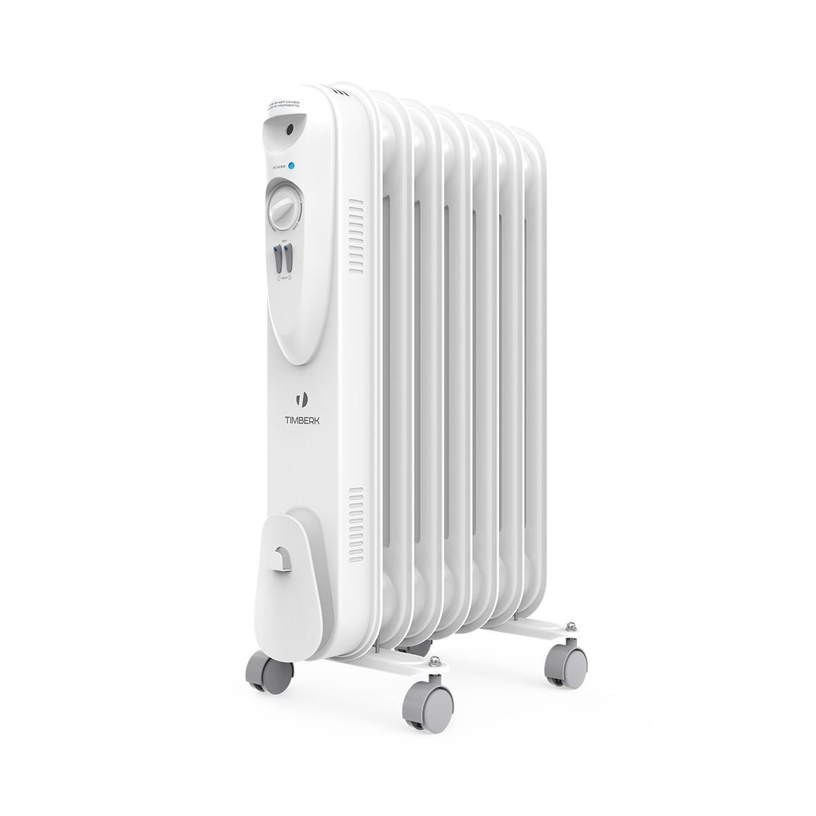 Масляный радиатор Timberk US TOR 21.1507 SLX, ULTRA SLIM дизайн, 7 секций, 1500 Вт., защита от протечек масла, высокоточный термостат