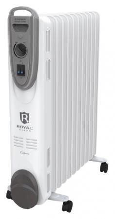 Масляный радиатор Royal Clima CLIMA ROR-C5-1000M 1000 Вт белый конвектор royal clima rec mp2000m milano plus