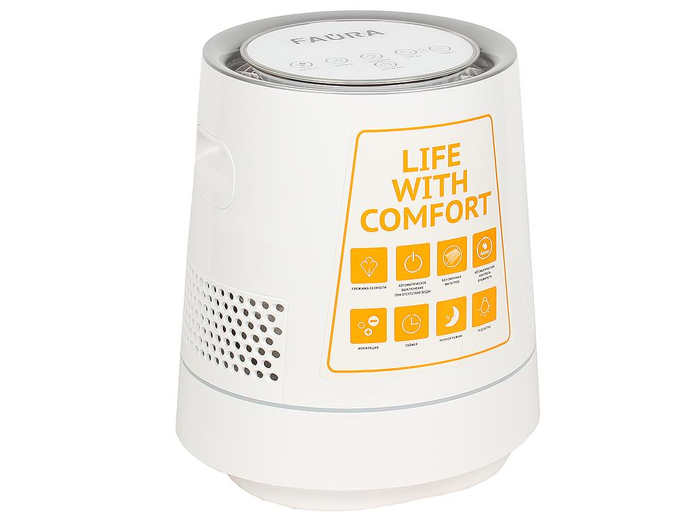 Картинка для Климатический комплекс Faura Aria-500 белый, Очиститель воздуха с увлажнением, ионизатор, LCD-дисплей, 3 режима скорости, S до 20 м