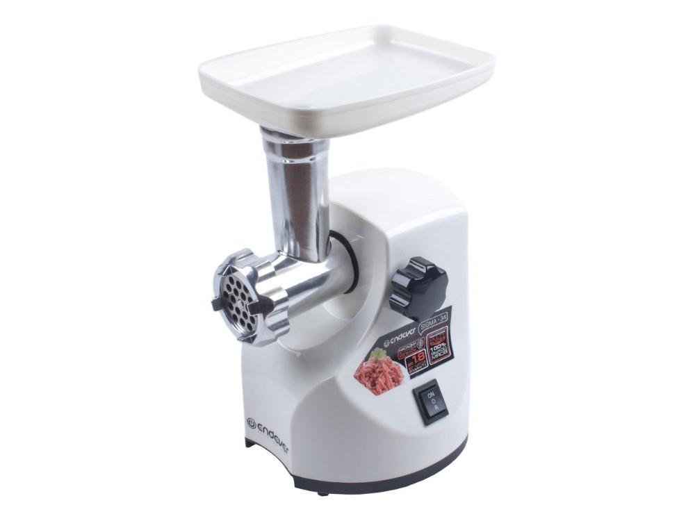 Мясорубка Endever Sigma 34, белый, мощность 1900 Вт, производительность 1,8 кг/мин, функция реверс