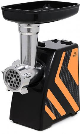 все цены на Мясорубка Kitfort KT-2101-3 1500Вт оранжевый/черный онлайн