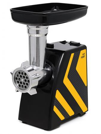 Мясорубка Kitfort KT-2101-4 1500Вт желтый/черный мясорубка kitfort kt 2101 3 оранжевый черный
