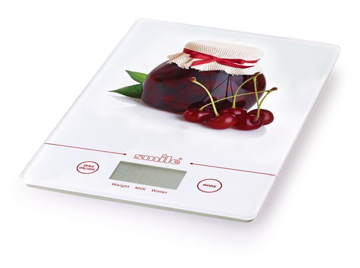 Электронные кухонные весы SMILE KSE 3219 (электрон.) вишня smile kse 3216