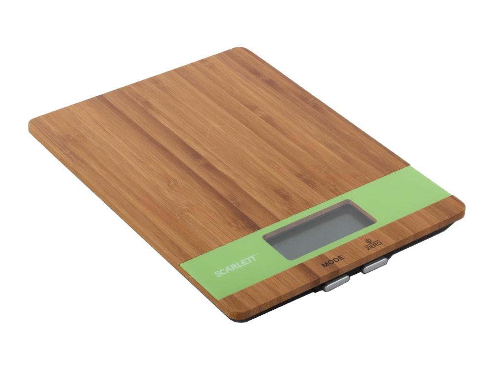 Электронные кухонные весы Scarlett SC - KS57P01 (бамбук зеленый) 57 1000012 01
