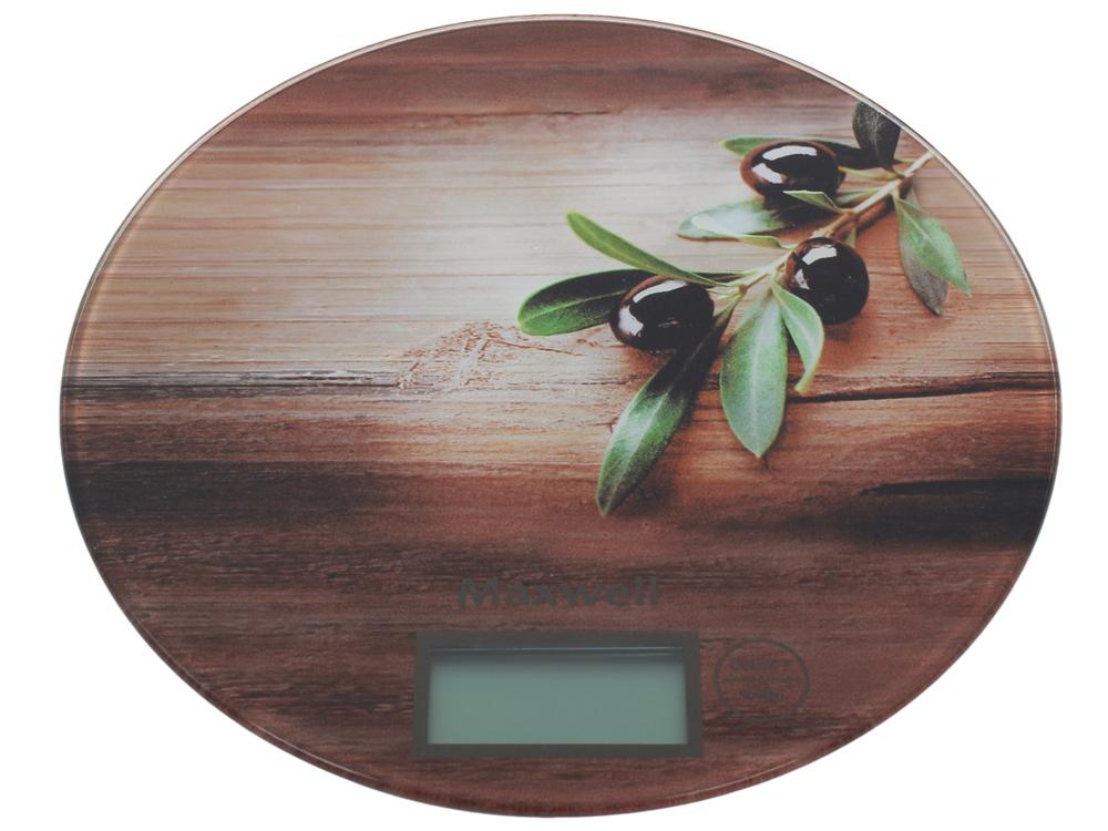 Электронные кухонные весы MAXWELL MW-1460, оливки
