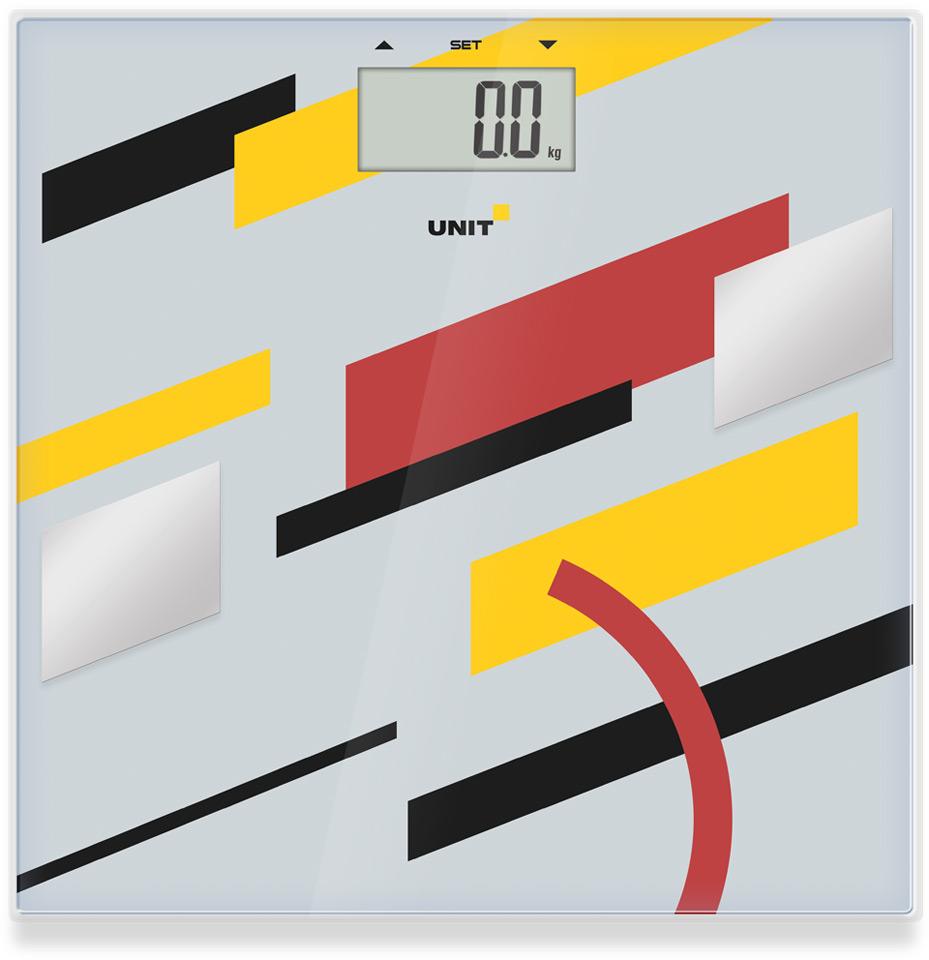 Электронные напольные весы UNIT UBS-2200 Светло-Серый unit ubs 2200 pale grey весы напольные