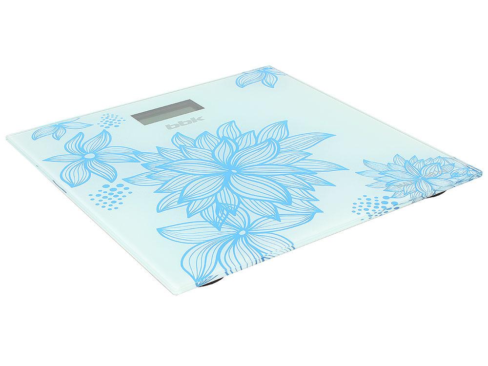 Электронные напольные весы BBK BCS3000G белый/голубой
