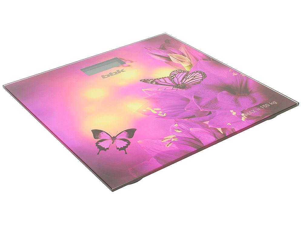 Электронные напольные весы BBK BCS3000G фиолетовый
