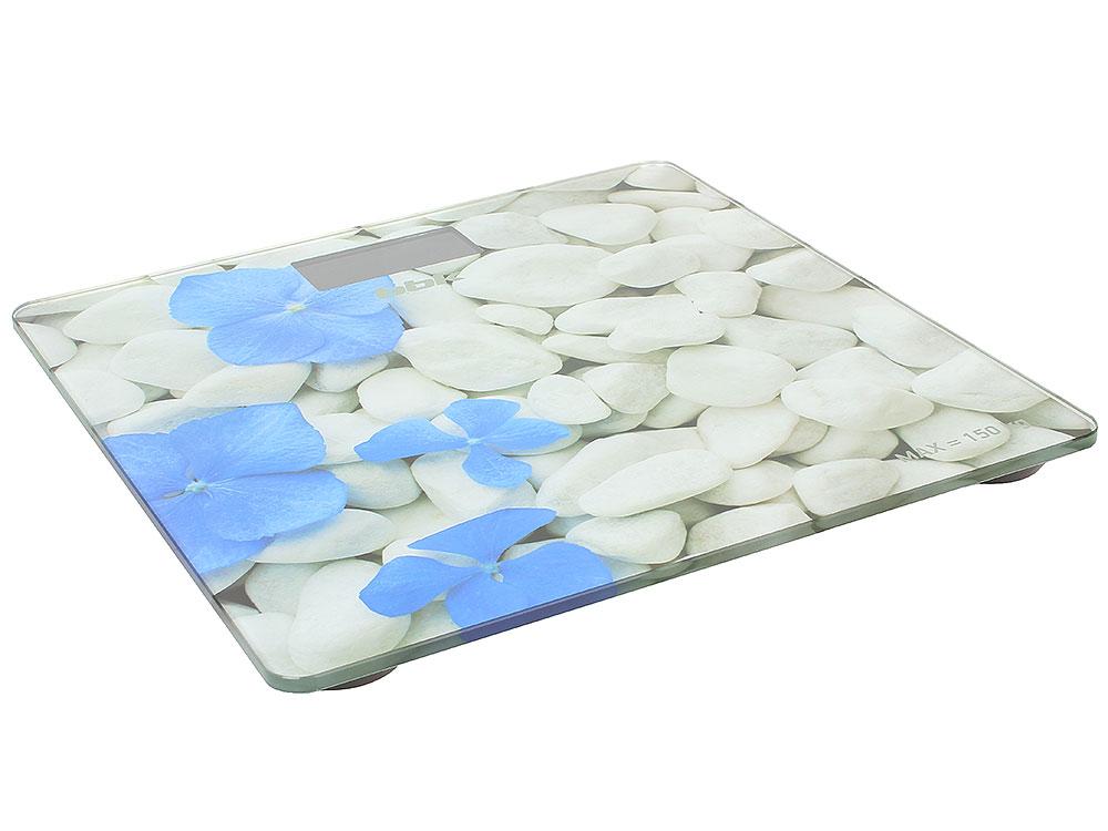электронные игрушки Электронные напольные весы BBK BCS3002G белый/голубой