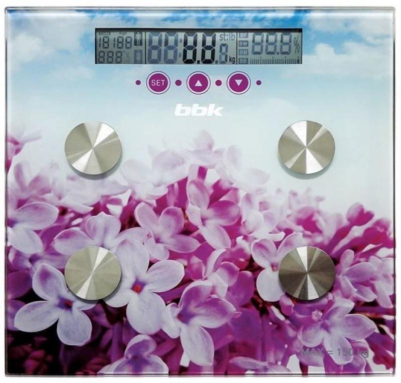 Электронные напольные весы BBK BCS7000 фиолетовый/розовый
