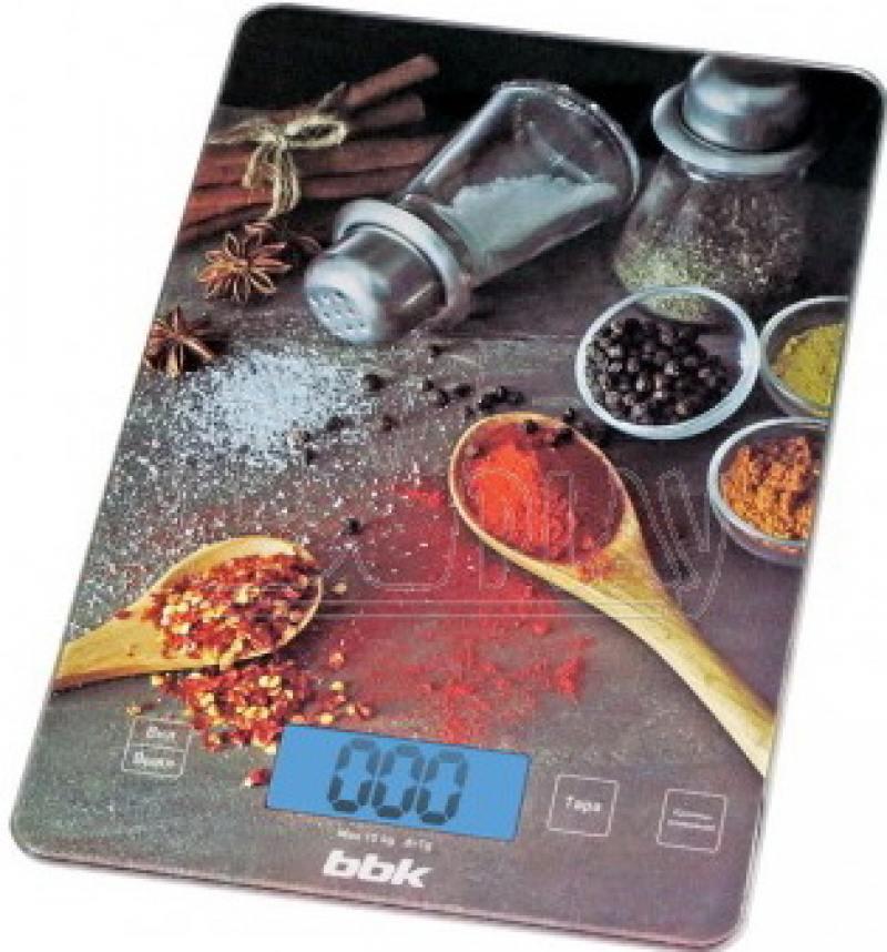 Электронные кухонные весы BBK KS100G черный