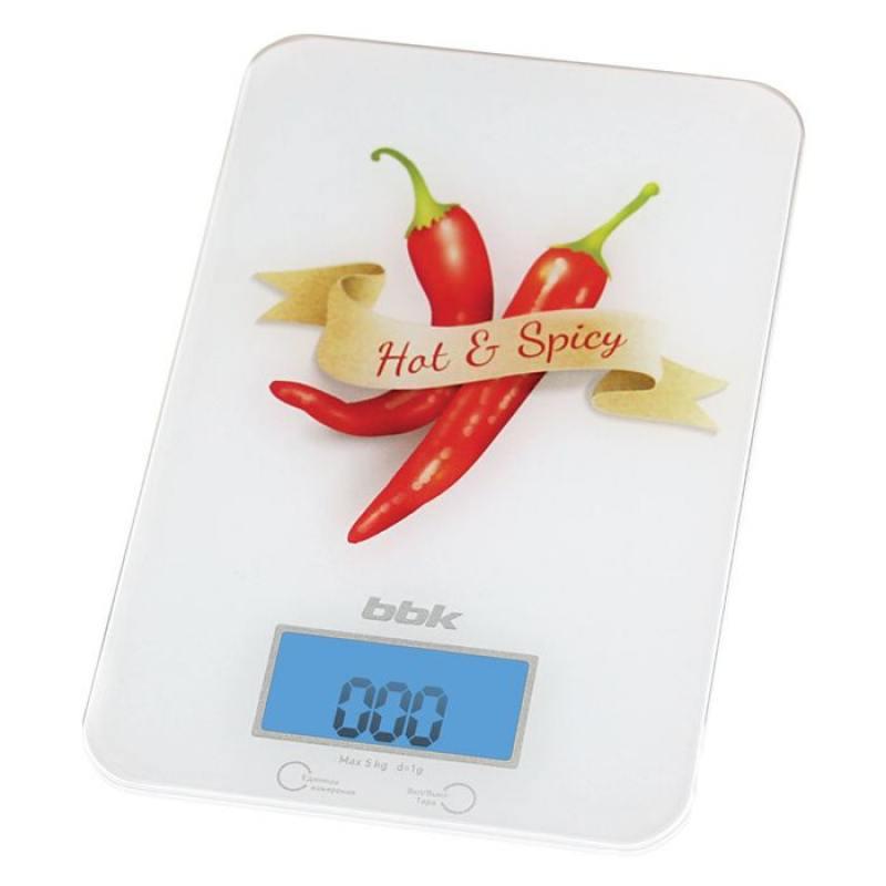 Электронные кухонные весы BBK KS106G белый/красный