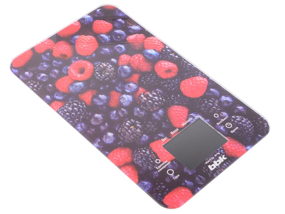 Электронные кухонные весы BBK KS107G черный/красный кухонные электронные весы changdi t vks303