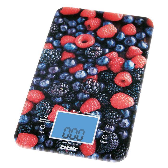 Электронные кухонные весы BBK KS107G черный/красный