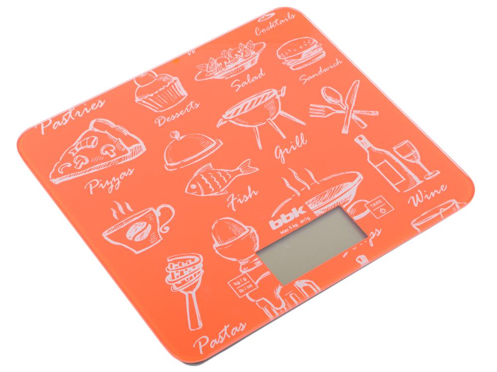 Электронные кухонные весы BBK KS108G оранжевый блины и блинчики