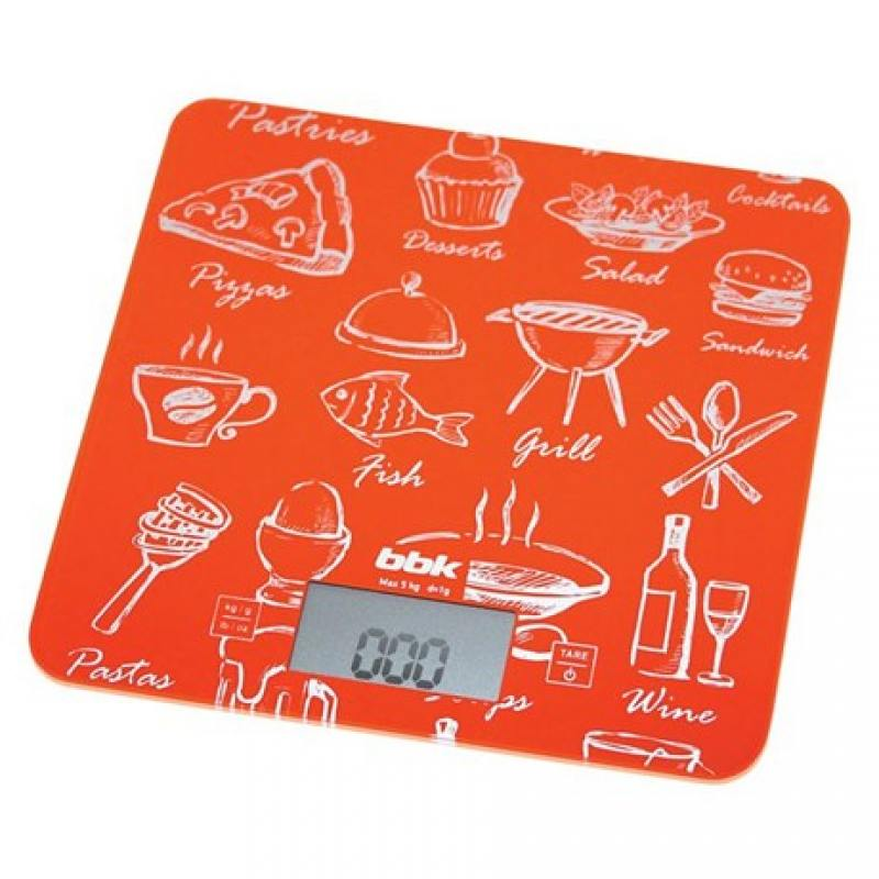 Электронные кухонные весы BBK KS108G оранжевый